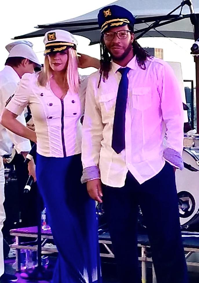 LA ALLSTARS dressed in Yacht Theme Attire